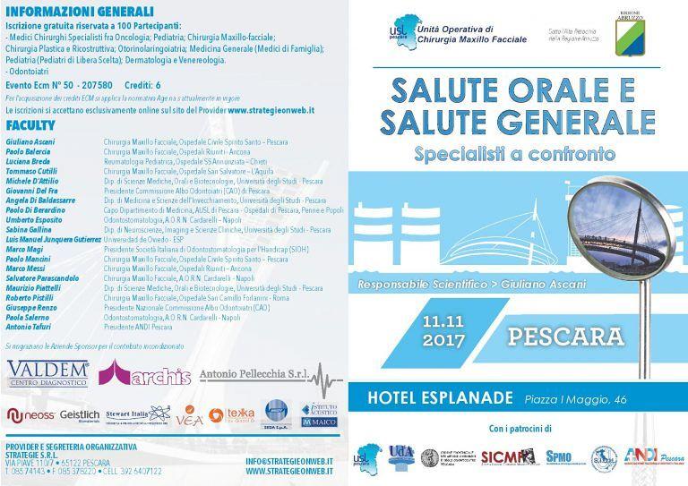 Pescara, convegno sulla Salute Orale coordinato dal reparto di Chirurgia