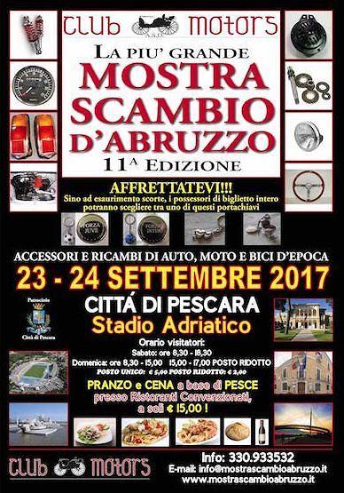 Pescara, veicoli d'epoca: torna la mostra-scambio dei pezzi 'vintage'