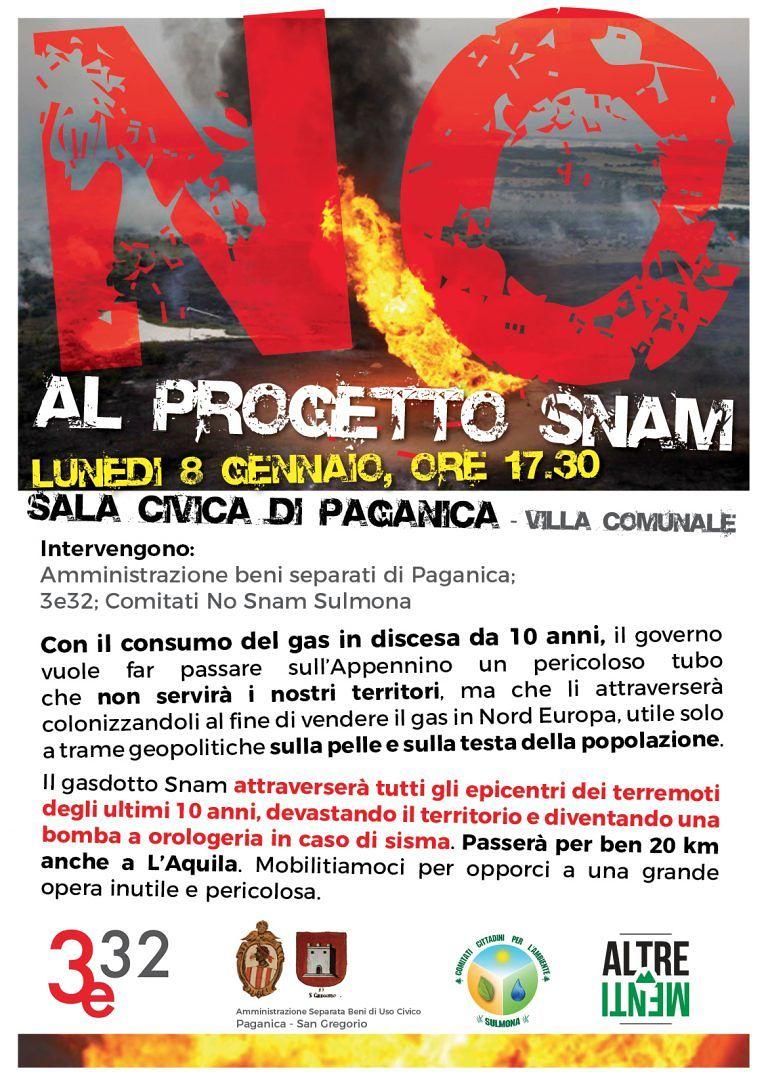 No al gasdotto: assemblea pubblica a Paganica
