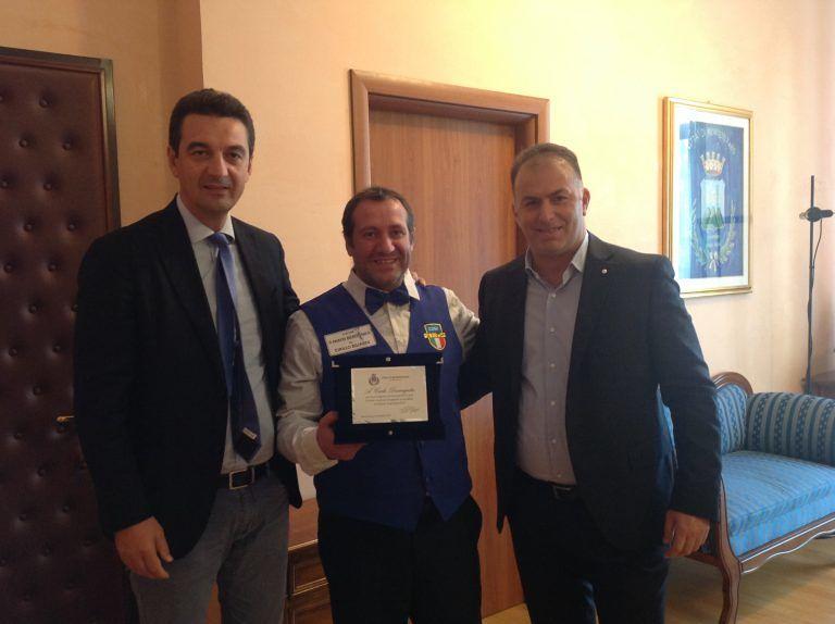 Montesilvano, premiato Carlo Diomajuta: terzo al campionato mondiale di biliardo