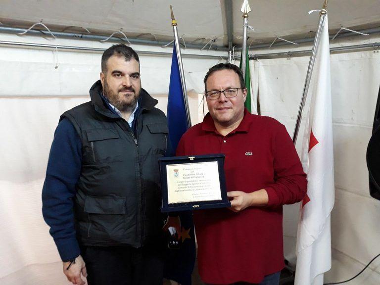 Ancarano, il Comune dona una targa alla Croce Rossa