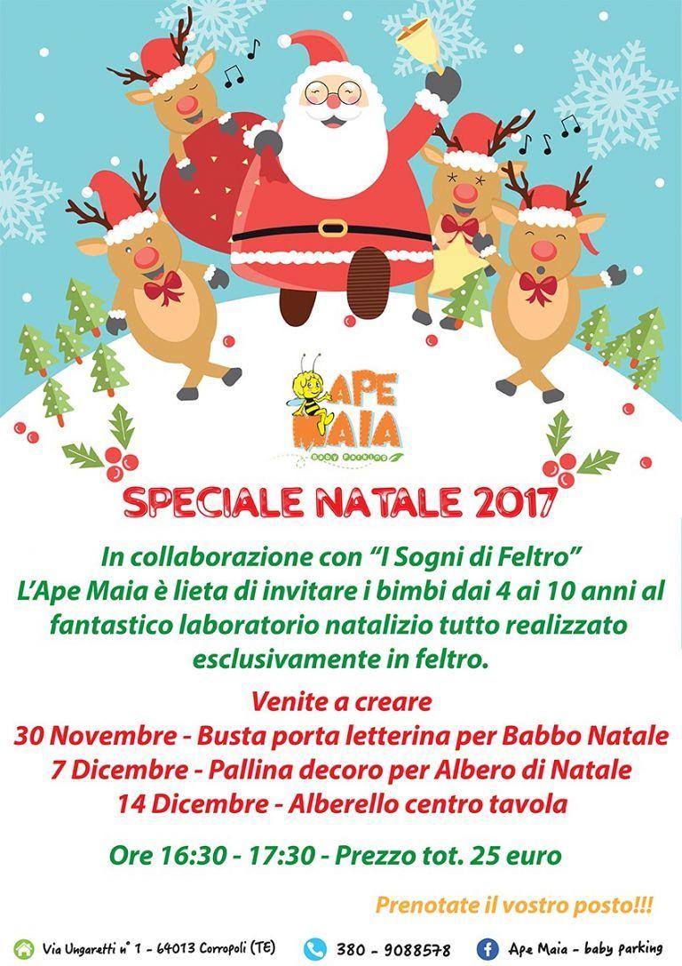 Ape Maia Baby Parking: Speciale Natale 2017 per tutti i bambini con il laboratorio natalizio| Corropoli