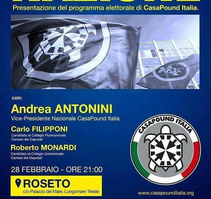 Roseto, Casapound in Comune: scoppia la polemica