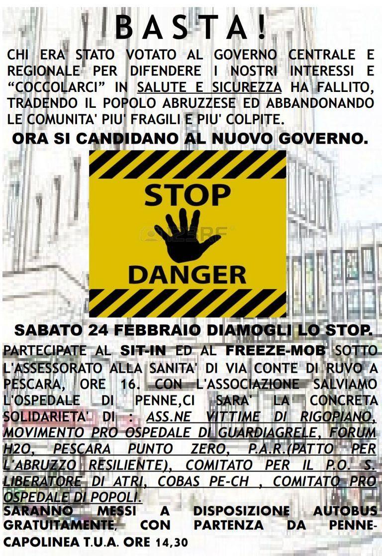 Pescara, protesta per salvare l'ospedale di Penne