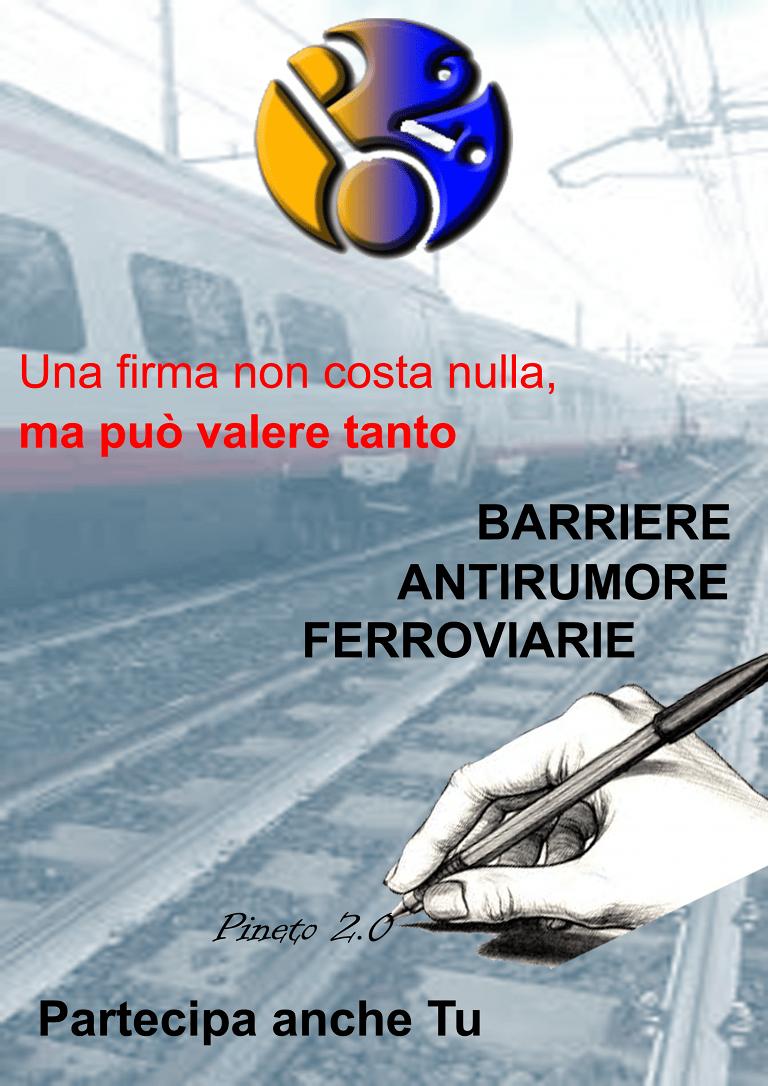 Pineto 2.0 lancia una petizione per installare barriere ferroviarie fonoassorbenti in città