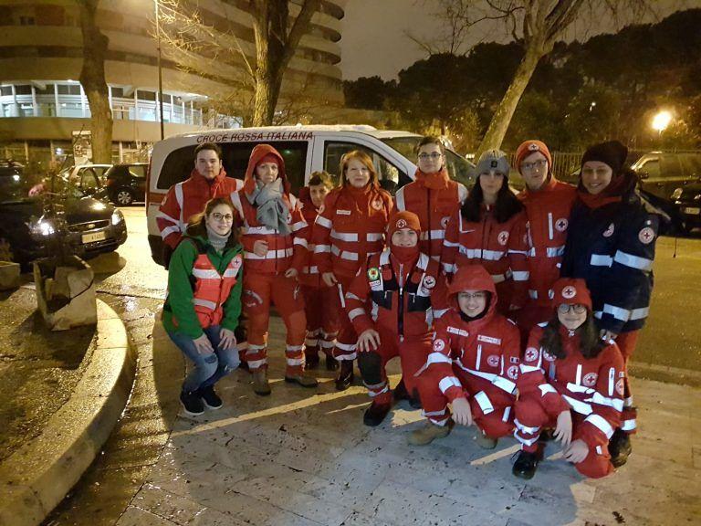 Pescara, ondata di gelo: la Croce Rossa non si è fatta trovare impreparata