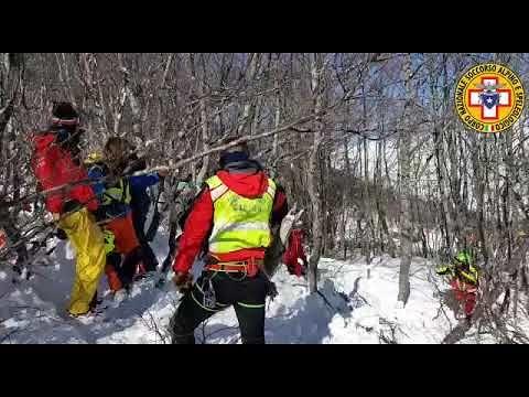 Slavina Campo Felice: migliorano le condizioni dello sciatore superstite