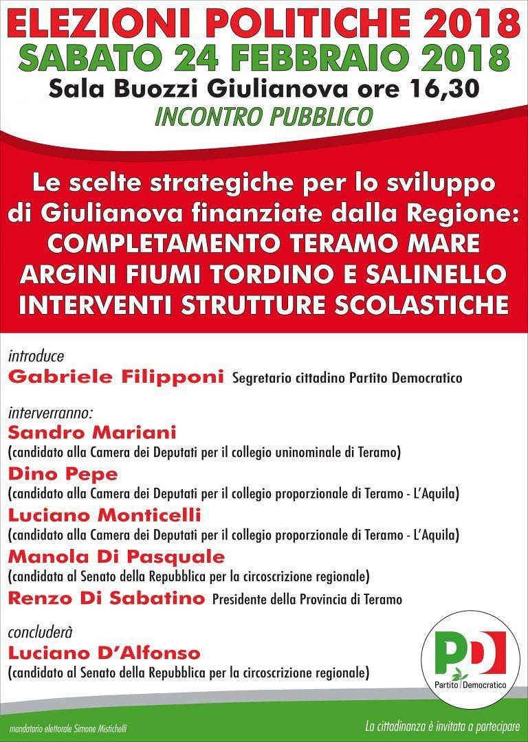 Giulianova, incontro pubblico con i candidati PD