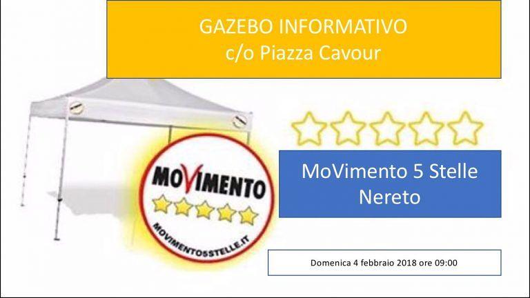 Nereto, banchetto informativo dei 5 Stelle in piazza Cavour