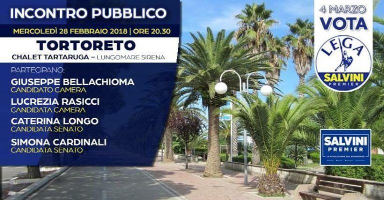 Elezioni, incontro pubblico con i candidati della Lega a Tortoreto