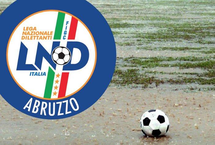 Maltempo, calcio dilettanti: ecco tutte le gare rinviate in Abruzzo
