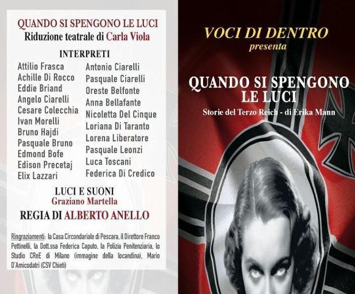 Pescara, carcere San Donato: il teatro di 'Voci di dentro'