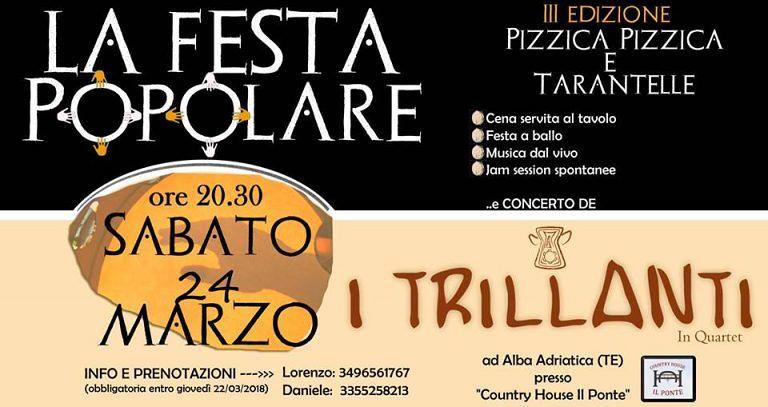 Terza edizione della Festa Popolare presso Country House Il Ponte  Alba Adriatica