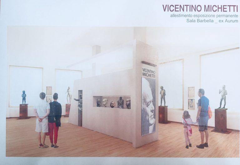 Pescara, le opere di Vicentino Michetti in mostra permanente all'Aurum