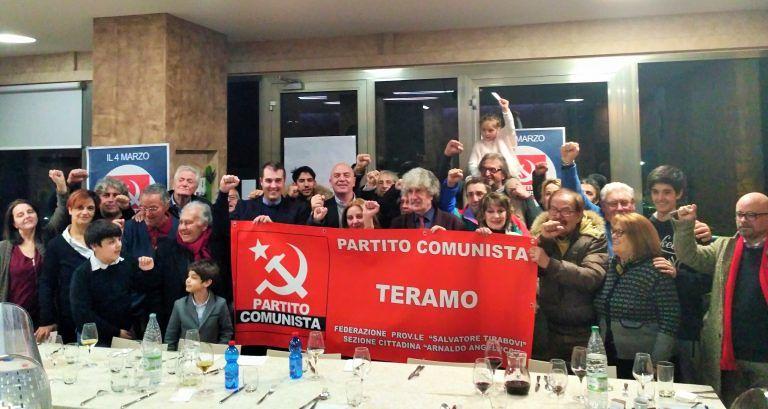 Teramo, Marco Rizzo incontra gli esponenti del Partito Comunista