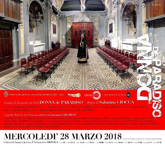 Ortona, 'Donna de paradiso' nella chiesa di Santa Caterina D'Alessandria