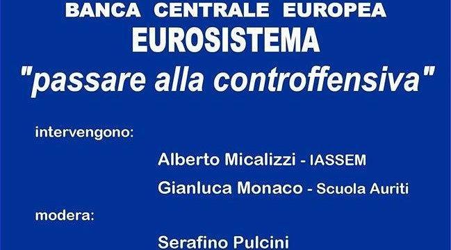 Banca centrale europea: dibattito e proposte a Bellante