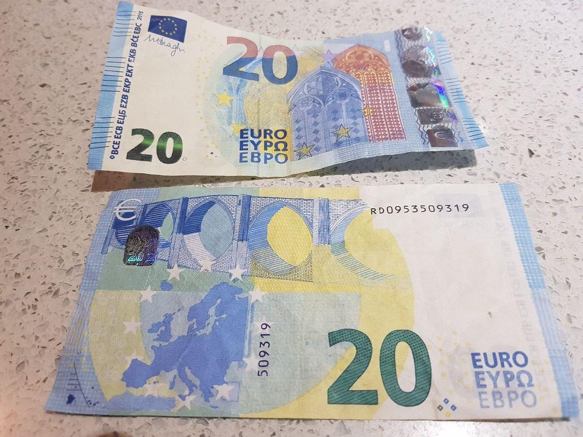 come riconoscere banconote false da 20 euro