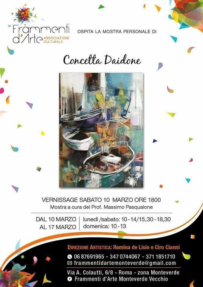 Pineto, l'artista Concetta Daidone espone a Roma