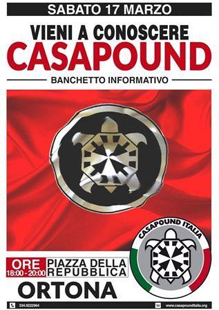 Banchetto informativo di CasaPound Italia ad Ortona