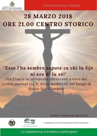 'Via Crucis in vernacolo abruzzese' tra le mura medievali nel borgo di Rocca San Giovanni