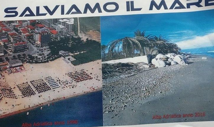"""Alba Adriatica, erosione e pennelli: """"salviamo il mare"""". L'INTERVENTO"""