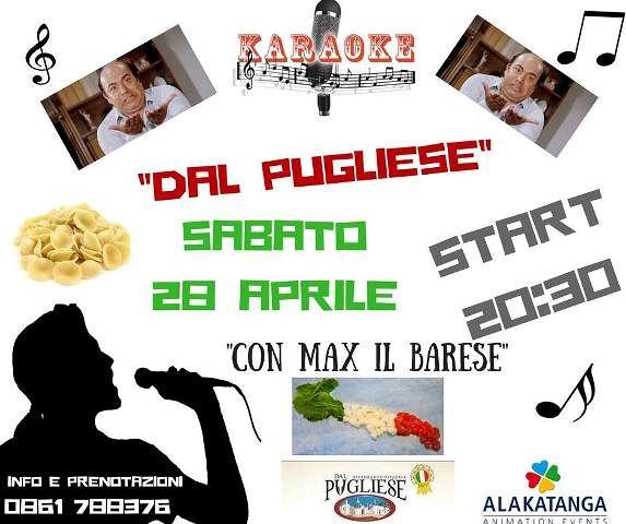 Dal Pugliese: sabato 28 aprile serata Karaoke| Tortoreto