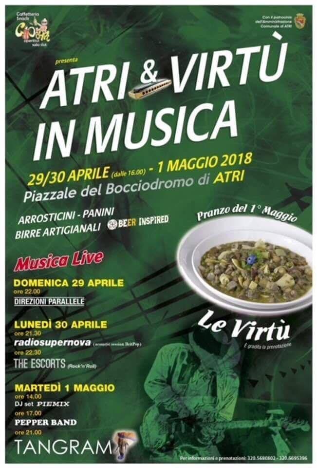 Atri&Virtù in Musica per il ponte del Primo Maggio