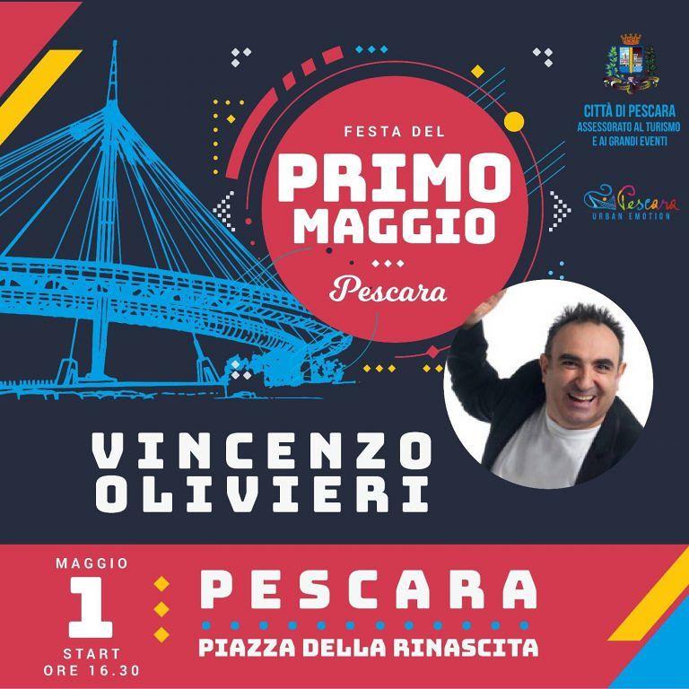 Pescara, il rap di Vincenzo Olivieri sul palco del primo maggio