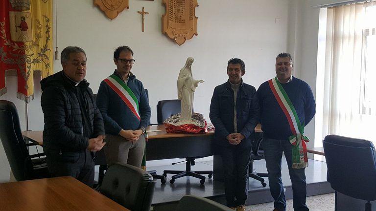 Basciano, visita della delegazione del comune di Grignasco
