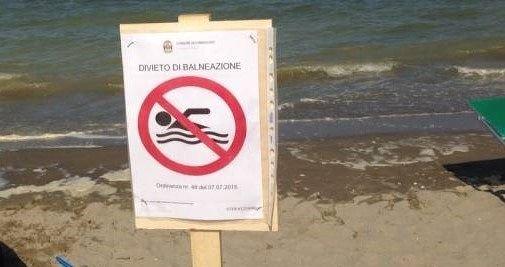 Martinsicuro, a nord del Vibrata il divieto di balneazione diventa permanente