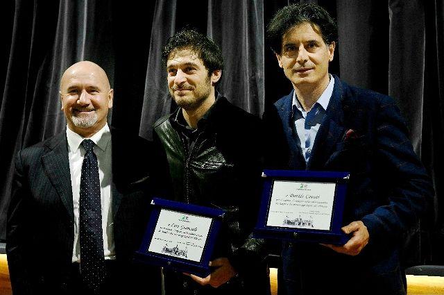 Francavilla al Mare, Lucrezio Paolini premia Lino Guanciale e Davide Cavuti