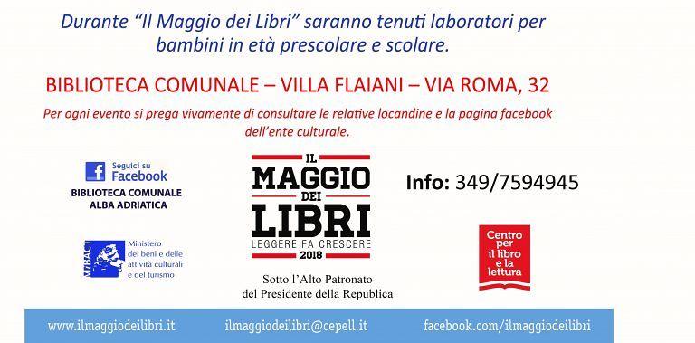 """Alba Adriatica, la Biblioteca comunale aderisce al """"Maggio dei libri"""""""