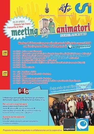 L'Oratorio San Franco a Francavilla organizza il meeting degli animatori