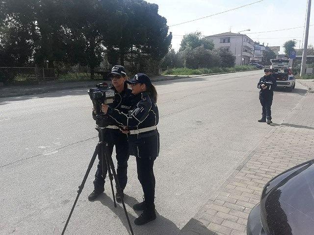 Pescara, vigili e telelaser sulle strade di Colli