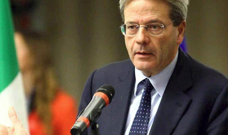 """Siria, Gentiloni: """"L'Italia non parteciperà ad azioni militari"""""""