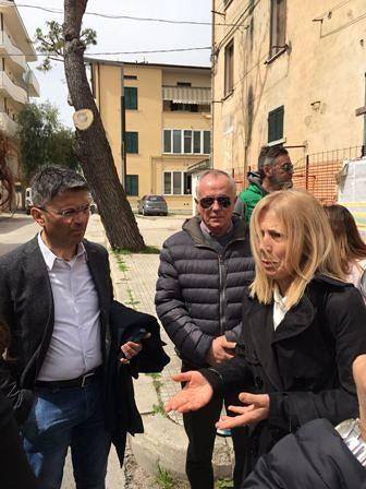 Ortona, interventi sul quartiere San Giuseppe: sopralluogo operativo del Comune con i responsabili Ater
