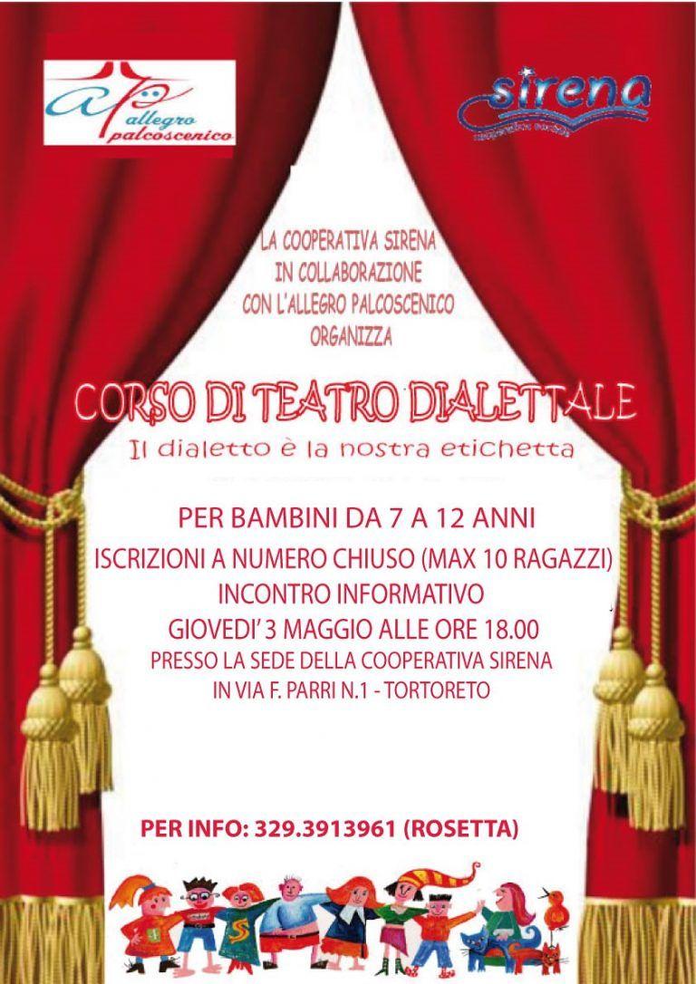 Nido Sirena: Corso di Teatro dialettale per bambini  Tortoreto