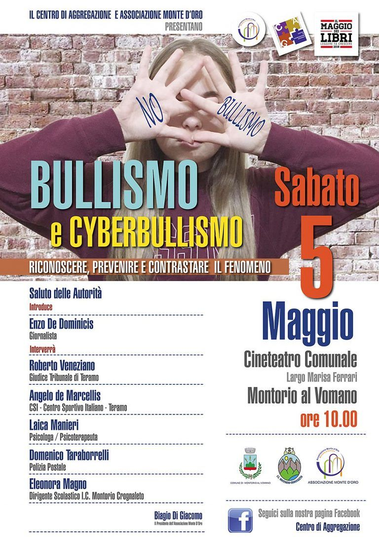 Montorio, bullismo e cyberbullismo: se ne parla al cineteatro