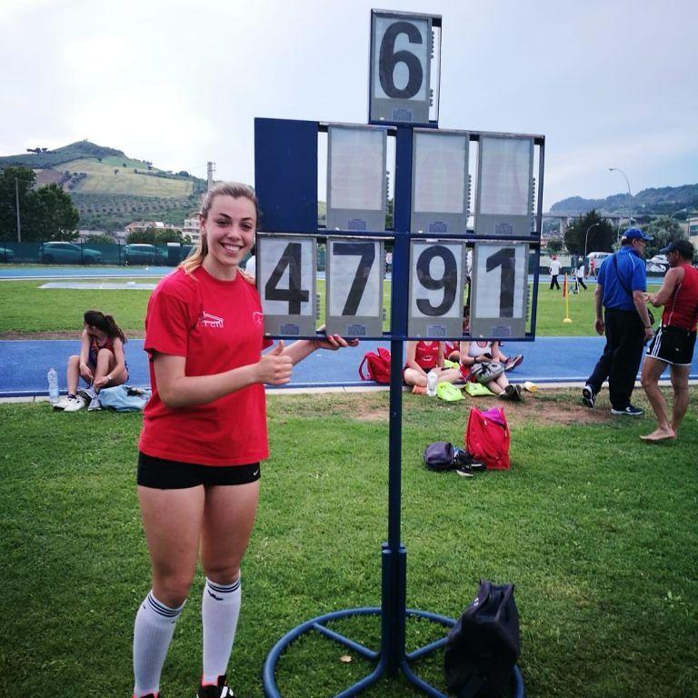 Atletica leggera, Ludovica Montanaro, record da applausi