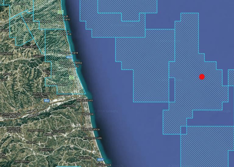 Trivelle in mare, progetto Eni per pozzo di estrazione al largo di Martinsicuro