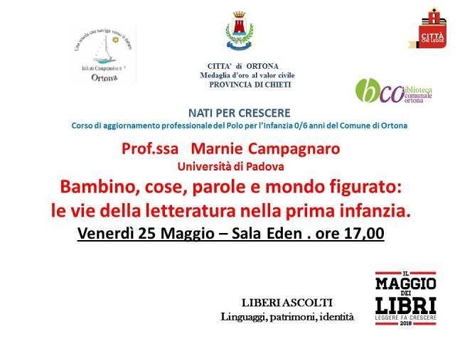 Ortona, la professoressa Marnie Campagnaro dell'Università di Padova al Maggio dei Libri