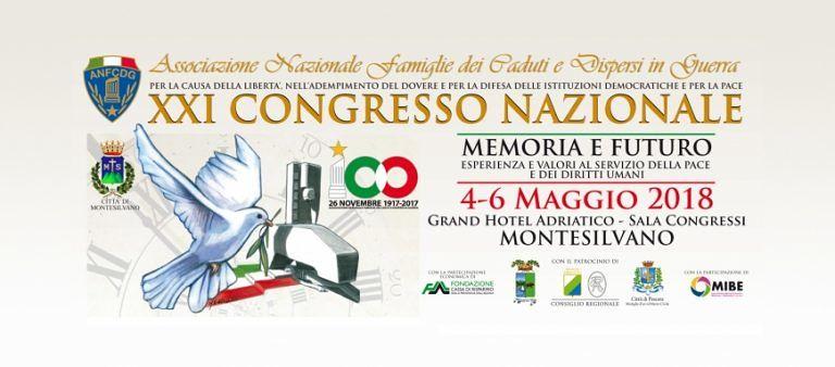 Montesilvano ospita il Congresso Nazionale Famiglie dei Caduti e Dispersi in guerra