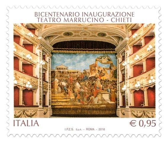 Poste Italiane, emesso francobollo per i duecento anni del Teatro Marrucino di Chieti