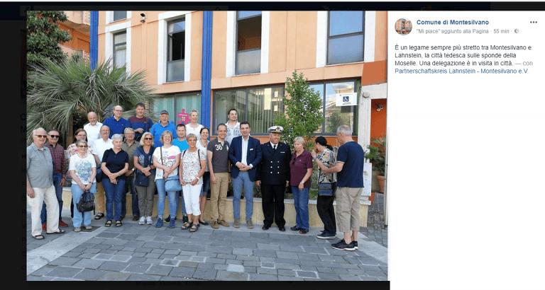"""Cittadini di Lahnstein in visita a Montesilvano e scoppia una polemica… """"geografica"""""""