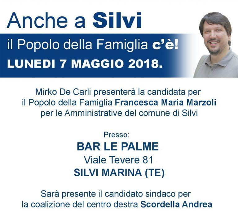 Elezioni Silvi: Francesca Marzoli, candidata del Popolo della Famiglia, si presenta
