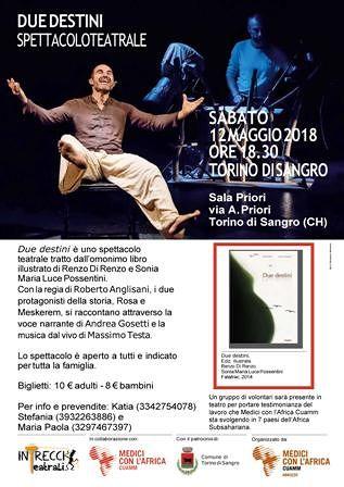 Torino di Sangro, alla sala Priori spettacolo teatrale 'Due destini'