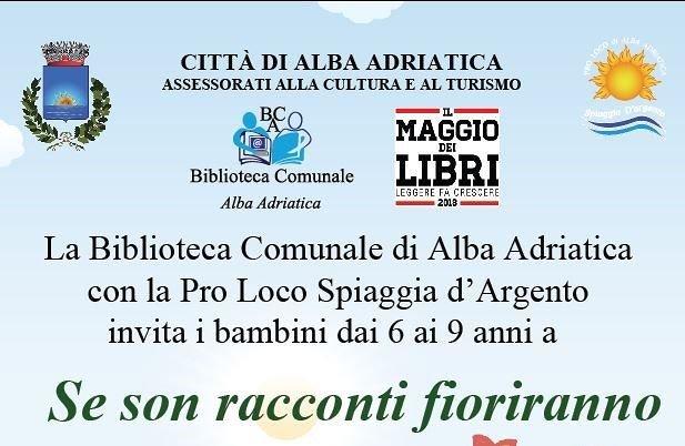Alba Adriatica, Maggio dei libri: due laboratori per i bambini in biblioteca
