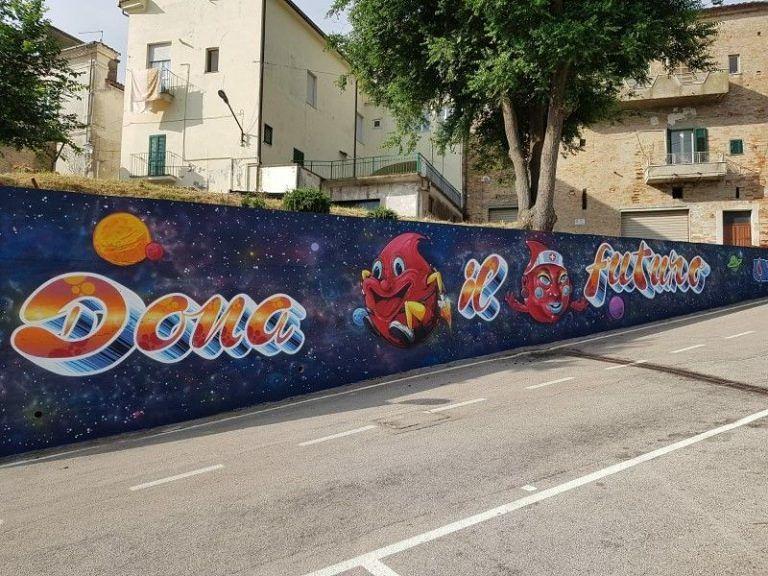 Collecorvino, Avis: 'Lo dico con un murales'