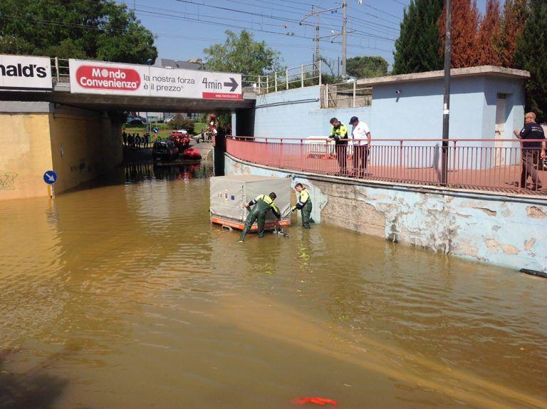Montesilvano, macchine sott'acqua e frane: maxi esercitazione della protezione civile FOTO